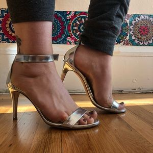 J.Crew silver genuine leather sandals
